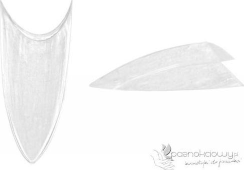 Bass Cosmetics Tipsy krystaliczne Stiletto Crystal bez kieszonki - uzupełnienie 50 szt. - Bass 1