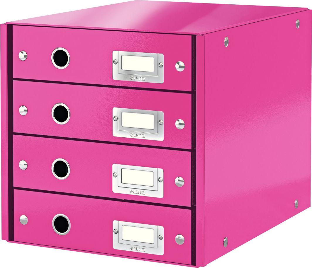Leitz Pojemnik, szafka Leitz Click & Store z 4 szufladami Różowy (10K269W) 1