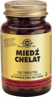 Solgar SOLGAR Miedź tabl. 2,5 mg 100 tabl. 1