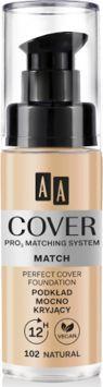 AA Cover Match Podkład mocno kryjący 102 Natural 30 ml 1