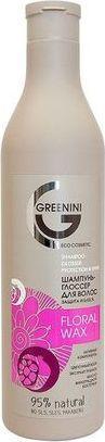 Greenini Floral Wax Shampoo szampon do włosów Ochrona Połysk 500ml 1