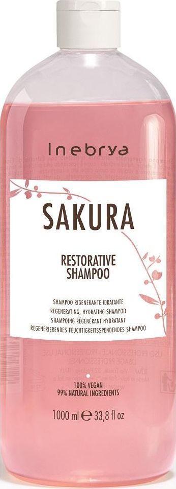 Inebrya Sakura Wegański Szampon Wzmacniający 1000Ml 1