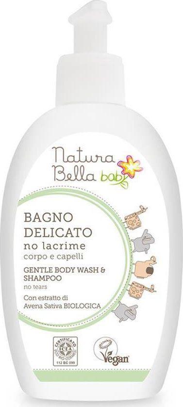 Natura Bella Baby – delikatny płyn do kąpieli i szampon 2w1 dla dzieci (300 ml) 1