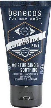 Benecos BENECOS_For Men Only Face & After Shave Balm naturalny nawilżająco-kojący balsam po goleniu 50ml 1