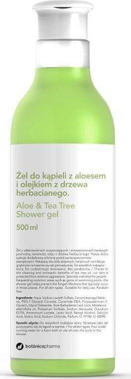 Botanica BOTANICAPHARMA_Tea Tree & Aloe Shower Gel żel do kąpieli Aloes i Olejek z Drzewa Herbacianego 500ml 1