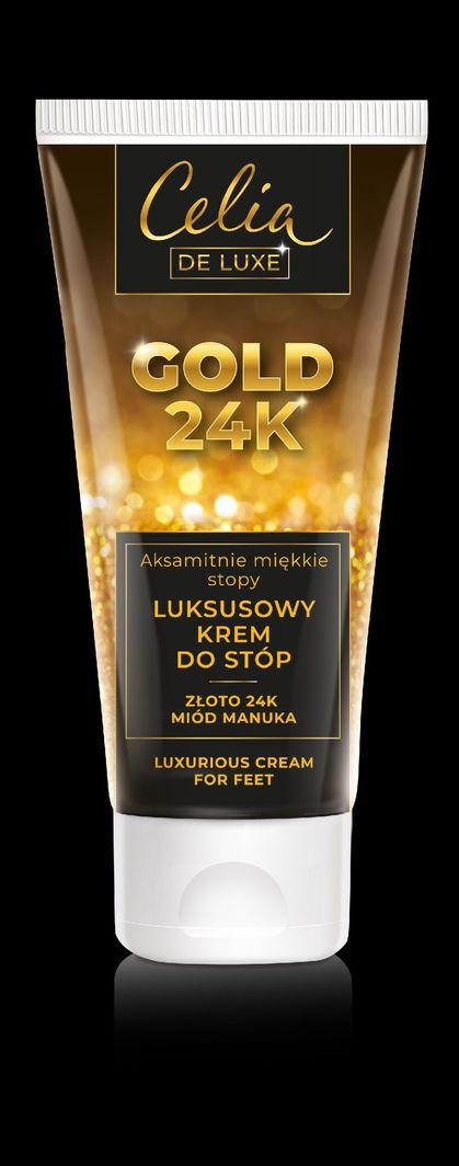 Celia De Luxe Gold 24K luksusowy krem do stóp Miód Manuka 80ml 1
