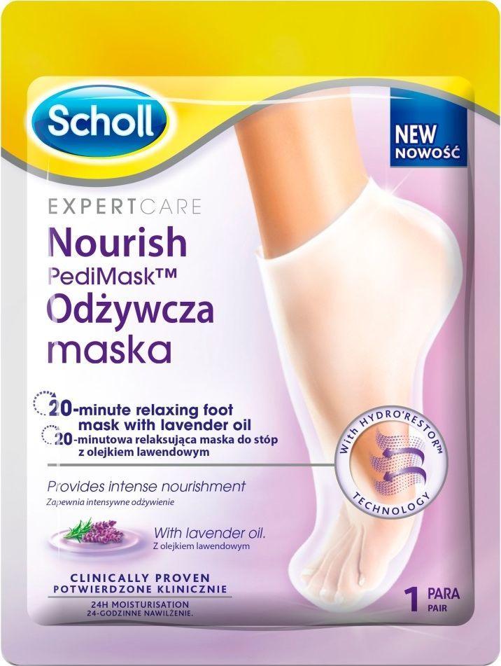 Scholl Expert Care Nourish Pedi Mask odżywcza maska do stóp z olejkiem lawendowym 1 para 1