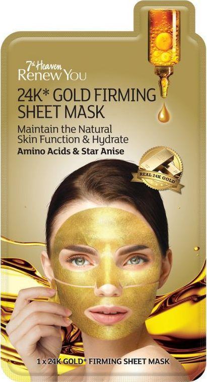7-th Heaven Gold Firming Sheet  maseczka z 24K złotem 1