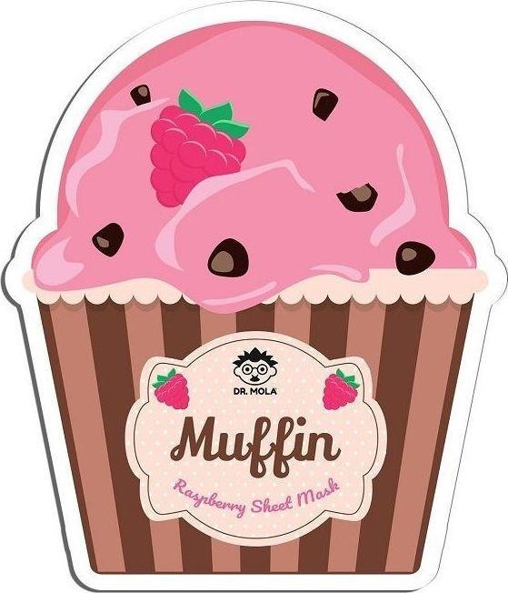 Mola Dr. Mola Muffin Sheet Mask maseczka Raspberry  1