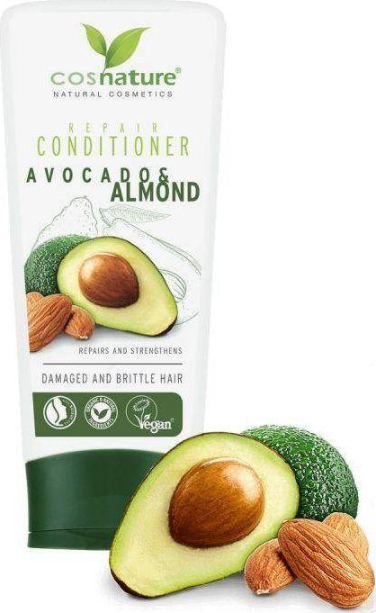 Cosnature Repair Conditioner Naturalna Regenerująca Odżywka Do Włosów z Awokado i Migdałami 200 ml 1