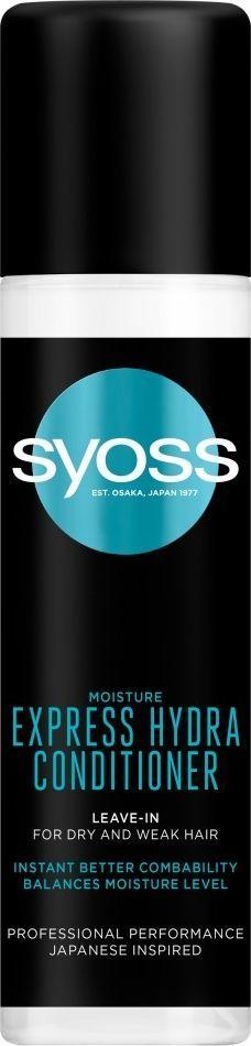 Syoss Moisture Express Hydra Conditioner Nawilżająca Ekspresowa Odżywka do Włosów Suchych i Osłabionych 200 ml 1
