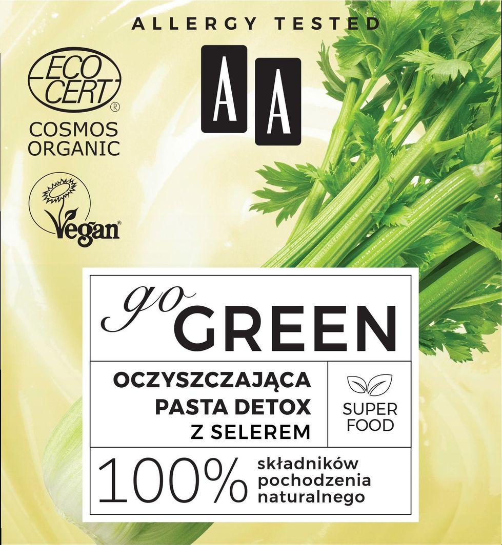 AA Go Green oczyszczająca pasta detox z selerem 50ml 1