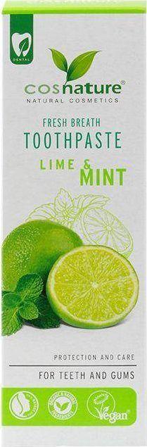 Cosnature Fresh Breath Toothpaste naturalna pasta do zębów o smaku limonki i mięty 75ml 1