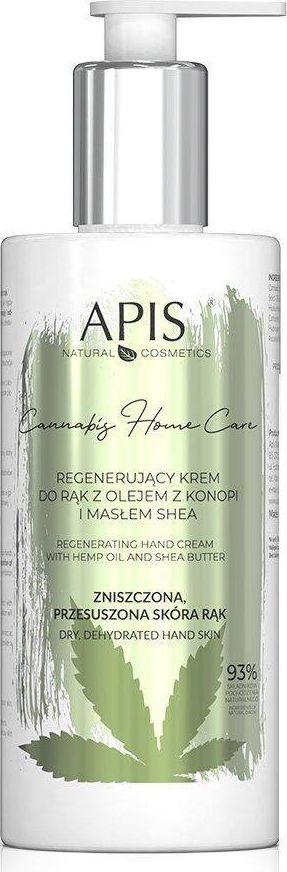 APIS Krem regenerujący do rąk z olejem z konopi i masłem shea 300 ml 1
