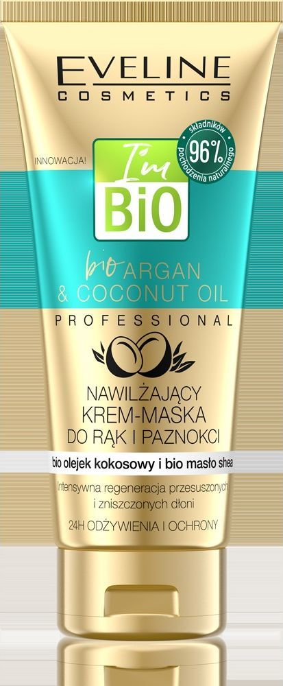Eveline Regenerujący krem-maska do rąk i paznokci Bio Argan & Cocoonut Oil 100 ml 1