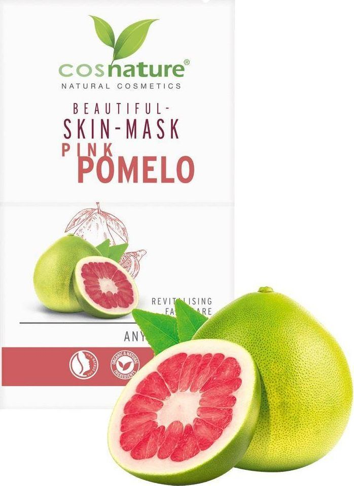 Cosnature Naturalna upiększająca maska do twarzy z różowym pomelo, 2x8ml 1