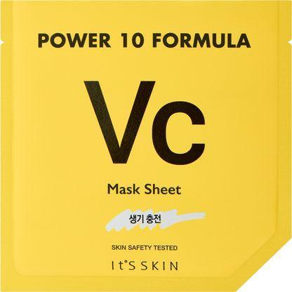 ITS SKIN Power 10 Formula VC rozjaśniająca maska z witaminą C 25 ml 1