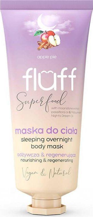Fluff FLUFF_Super Food Sleeping Overnight Body Mask odżywczo-regenerująca maska do ciała Szarlotka 150ml 1