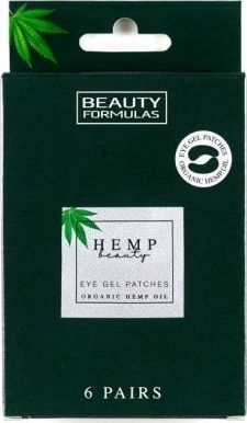 Beauty Formulas BEAUTY FORMULAS_Hemp Beauty Eye Gel Patches żelowe płatki pod oczy z organicznym olejem konopnym 6 par 1