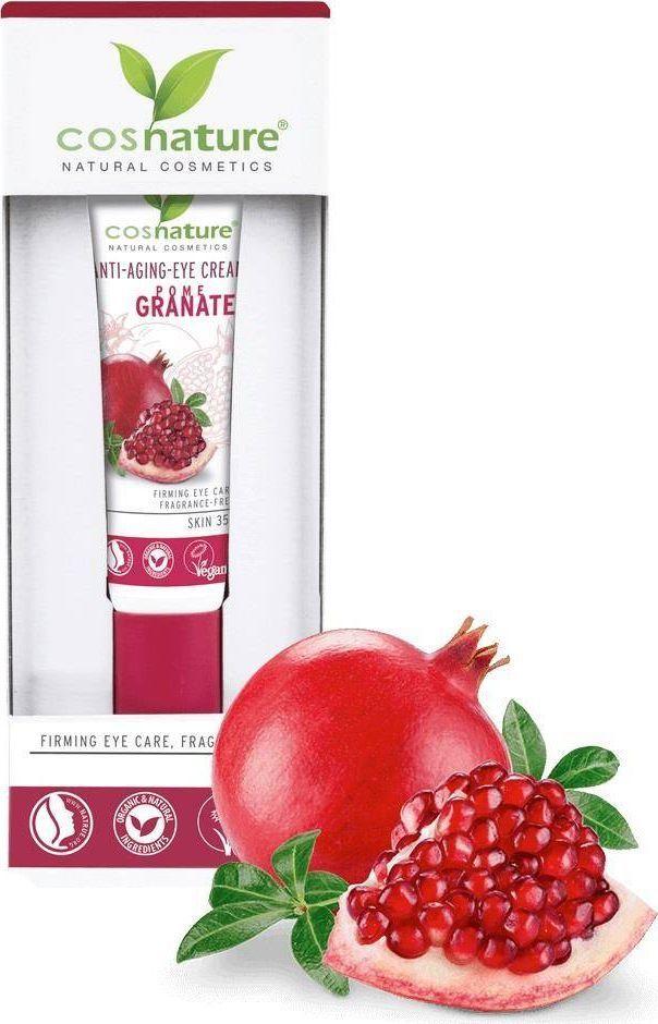 Cosnature COSNATURE_Anti-Aging Eye Cream naturalny ujędrniający krem pod oczy z owocem granatu 15ml 1