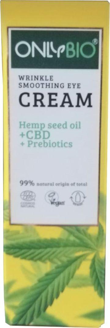 Only Bio CBD+Prebiotyki wygładzający krem pod oczy 30ml 1