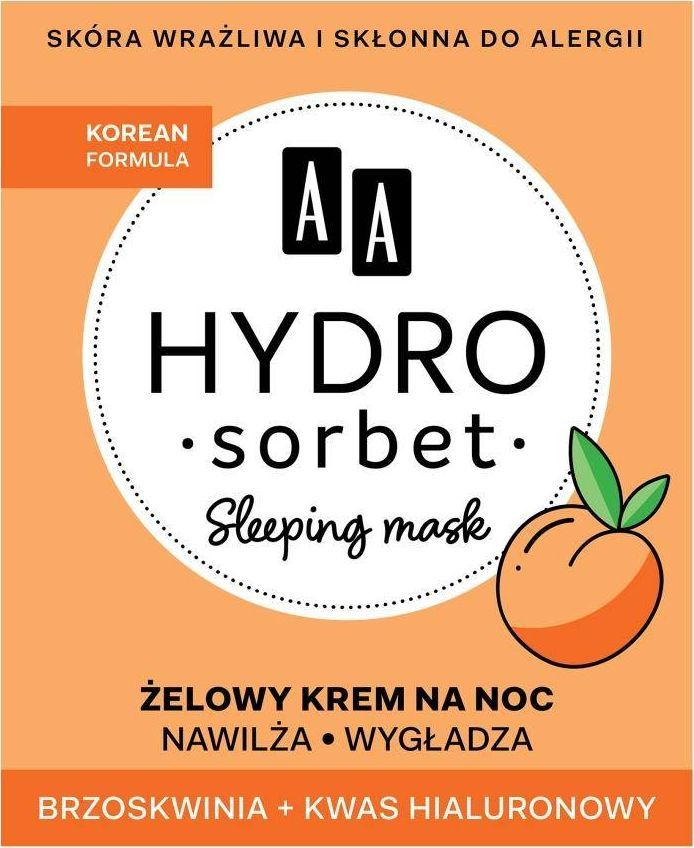 AA Hydro Sorbet Korean Formula Sleeping Mask żelowy krem na noc 50ml 1