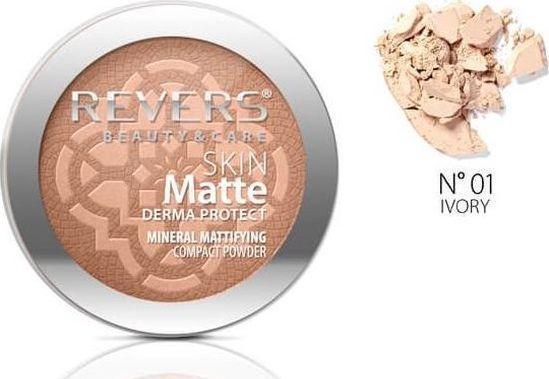 Revers Skin Matte Mineralny Puder do twarzy 01 Ivory 1