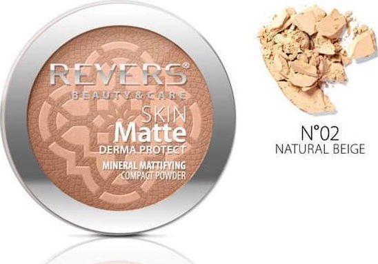 Revers Skin Matte Mineralny Puder do twarzy 02 Natural Beige 1