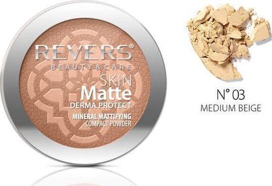 Revers Skin Matte Mineralny Puder do twarzy 03 Medium Beige 1