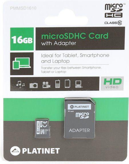 Karta Platinet MicroSDHC 16 GB Class 10  (PMMSD1610) 1