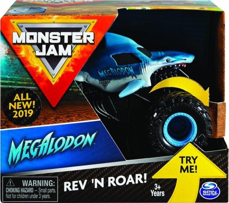 Spin Master Pojazd Monster Jam Auto Warczące opony Megladon (GXP-753759) 1