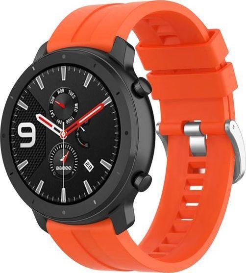 Alogy Pasek Soft Galaxy Watch Active 2 Pomarańczowy (20mm)  1