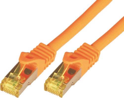 Mcab Patchcord, S-FTP, Cat7, PIMF, LSZH, 2m, pomarańczowy (3703) 1