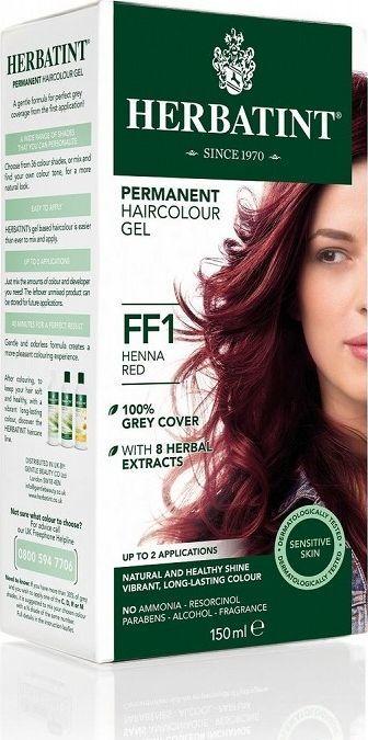 Herbatint  Trwała Farba do włosów Herbatint Czerwień Henny FF1 1