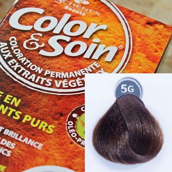 Color&Soin Trwała Farba do włosów Jasnozłocisty Szatyn 5G 1