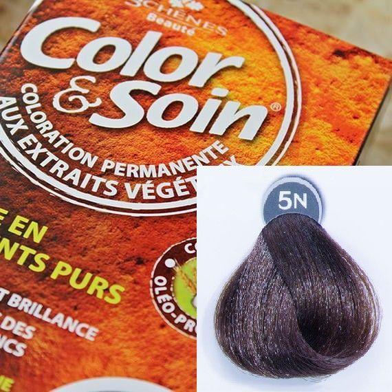 Color&Soin Trwała Farba do włosów Jasny Szatyn 5N 1