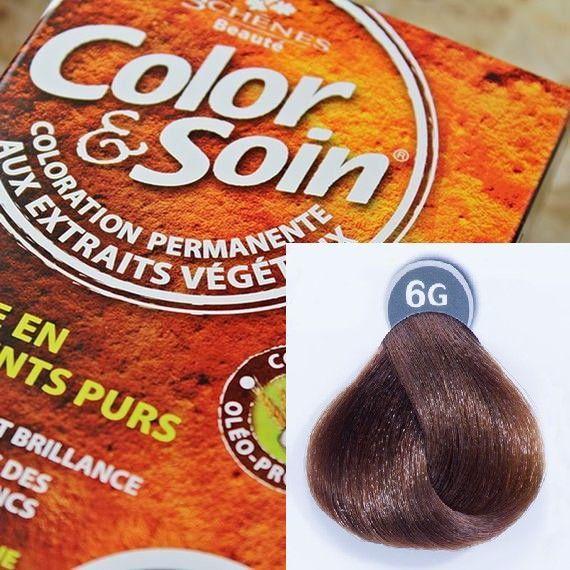 Color&Soin Trwała Farba do włosów Złocisty Ciemny Blond 6G 1