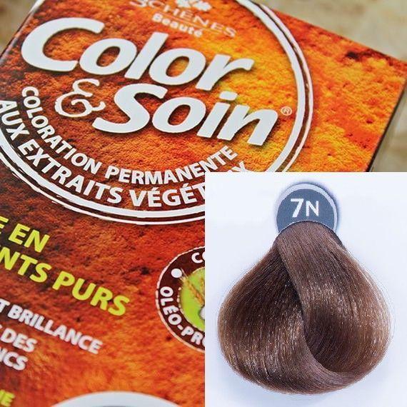 Color&Soin Trwała Farba do włosów Ciemny Blond 6N 1