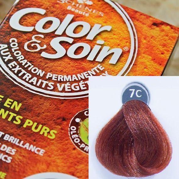 Color&Soin Trwała Farba do włosów Miedziany Ciemny Blond 7C 1
