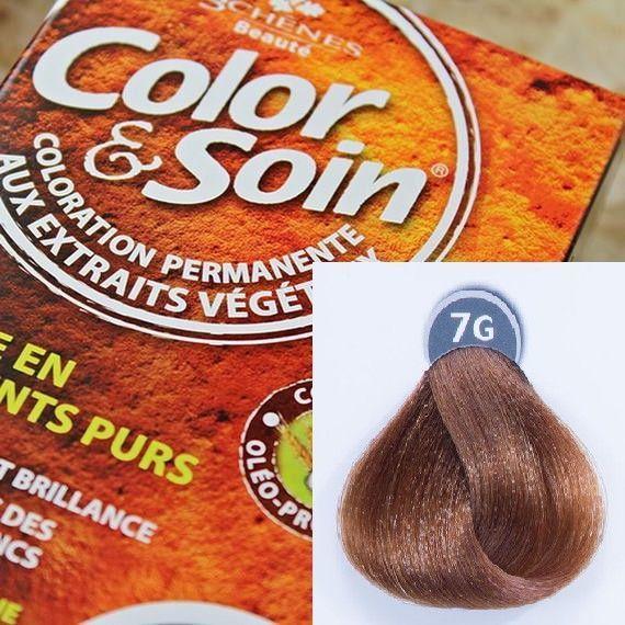 Color&Soin Trwała Farba do włosów Złocisty Blond 7G 1