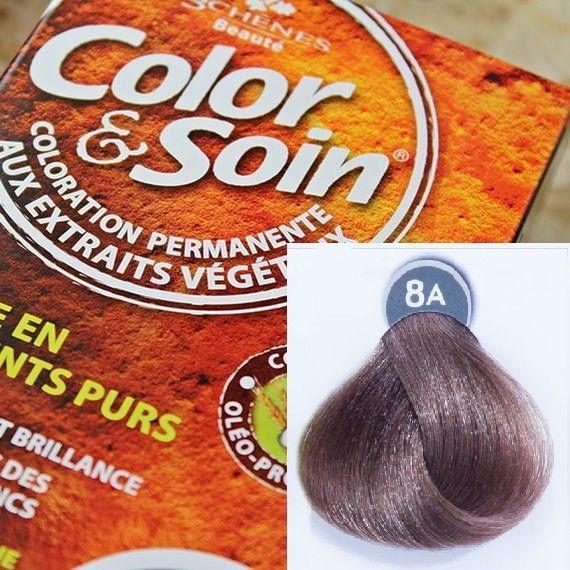 Color&Soin Trwała Farba do włosów Popielaty Blond 8A 1