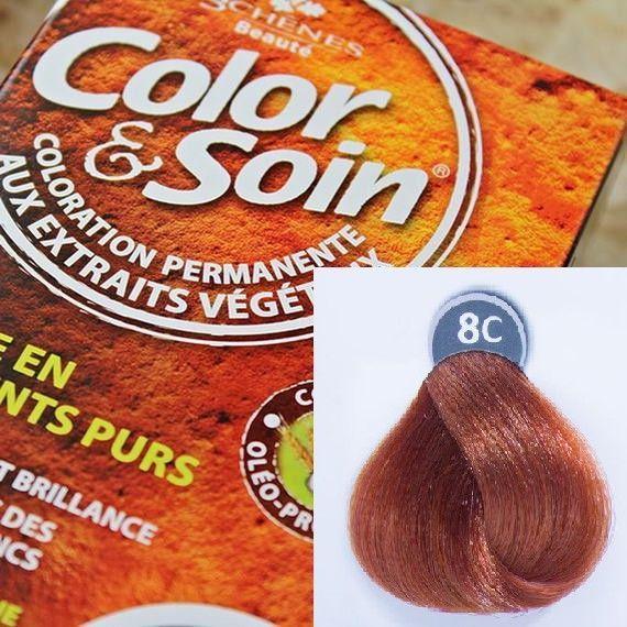 Color&Soin Trwała Farba do włosów Miedziany Blond 8C 1