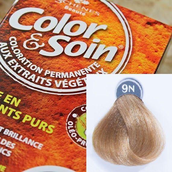 Color&Soin Trwała Farba do włosów Blond Miodowy 9N 1