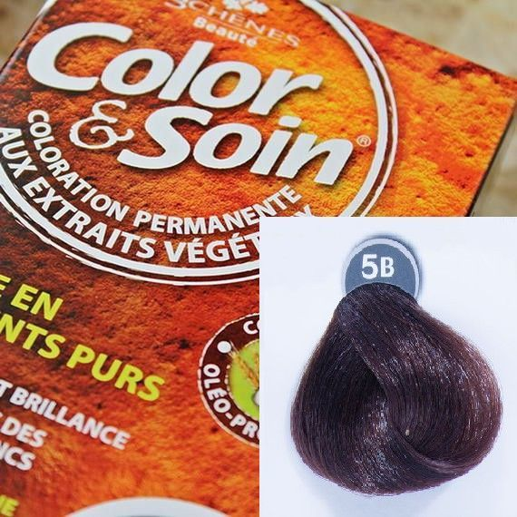 Color&Soin Trwała Farba do włosów Brąz Czekolada 5B 1
