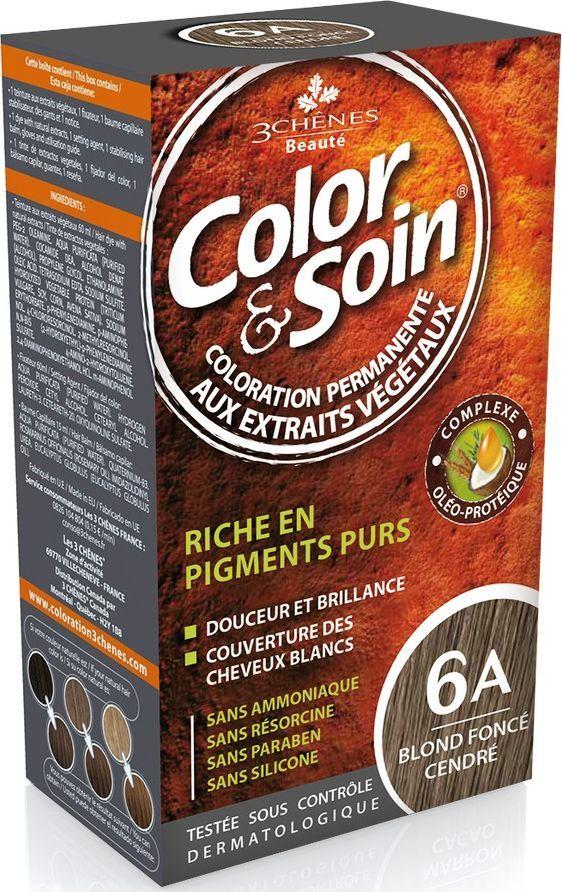 Color&Soin Trwała Farba do włosów Ciemno-Popielaty Blond 6A 1