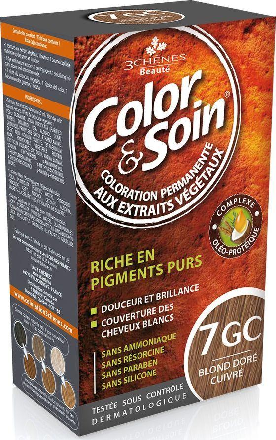 Color&Soin Trwała Farba do włosów Złocisty Miedziany Blond 7Gc 1