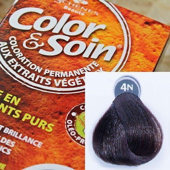 Color&Soin Trwała Farba do włosów Szatyn Naturalny 4N 1