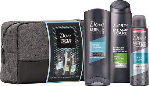 Dove  Zestaw do pielęgnacji ciała  Men + Care Clean płyn do mycia twarzy 250ml + szampon 250ml + dezodorant 150ml 1