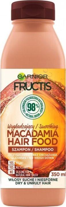 Garnier Fructis Macadamia Hair Food szampon regenerujący do włosów zniszczonych 350 ml 1