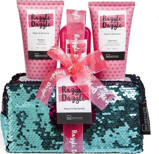 IDC Zestaw Institute Razzle Dazzle: żel pod prysznic, 100 ml + szampon, 75 ml + balsam do ciała, 75 ml  1